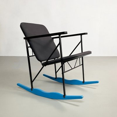 Postmodern A-509 Rocking Chair by Yrjö Kukkapuro for Avarte, c.1980