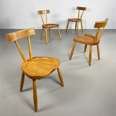 Set of 4 Mid Century / Brutalist Dining Chairs