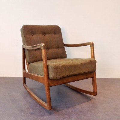 Rocking chair model FD-120 by Ole Wanscher for France & Søn, Denmark 1960's