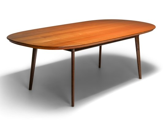 Mid-Century Modern Dining Table in Wengé & Cherry, 1960s