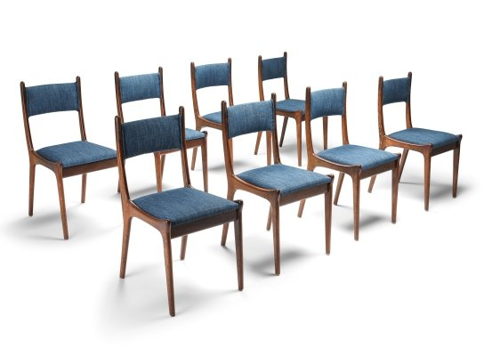 Mid-Century Modern Dining Chairs in Wengé & Cherry, 1960s