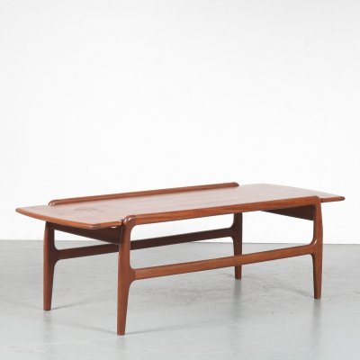 1950s Reversible coffee table by Louis van Teeffelen for WéBé, Netherlands