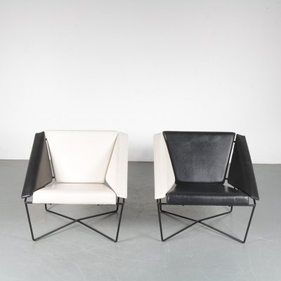 Pair of Rob Eckhardt 'Van Speyk' Chairs for Pastoe, Netherlands 1984