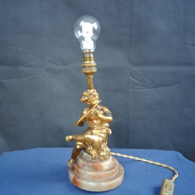Gilt Bronze Figurine Lamp, 1920's
