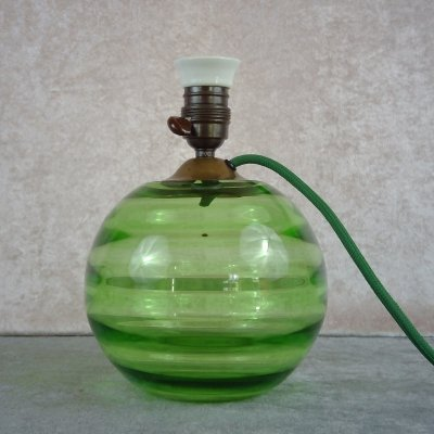 Uranium Glass Table Lamp, 1940's