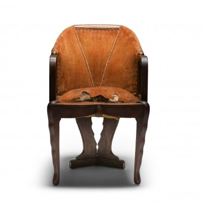 Amsterdam School Chair by 't Woonhuys, 1920's
