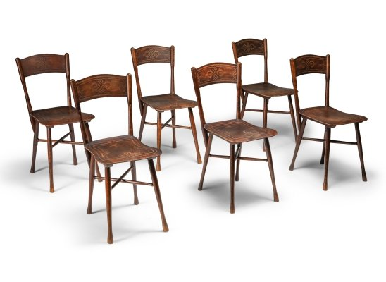 Set of 6 dining chairs by J. & J. Kohn, Austria 1900s