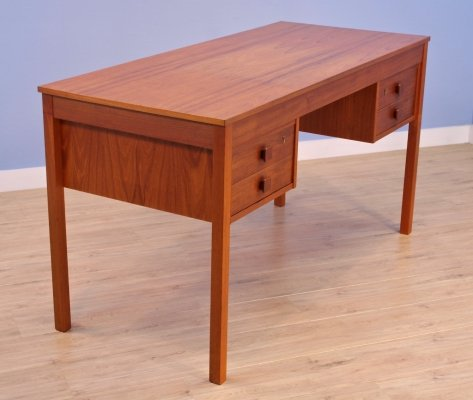 Danish writing desk in teak by Domino Møbler, 1960s
