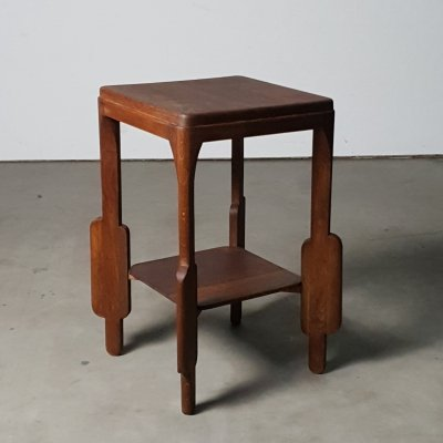 High side table from the 1930s in solid oak with refined details