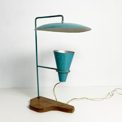 Mid Century Italian Style Folk Craft Table Lamp