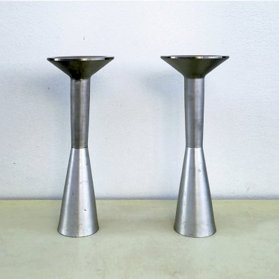 Pair of ashtrays in die-cast aluminum, 1970