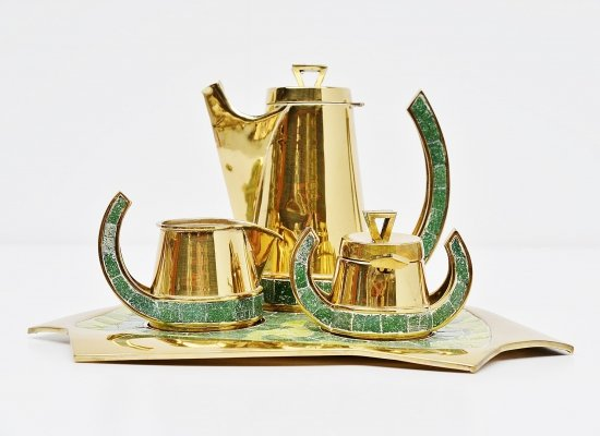 Salvador Teran tea set hand made in Mexico, 1952