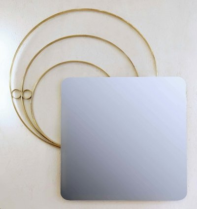 Large Italian Wall Mirror by Luciano Frigerio, 1960s
