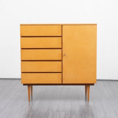 Small 1950s highboard in maple wood
