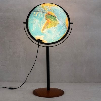 Illuminated floor globe by Scan Globe Denmark, 1990s
