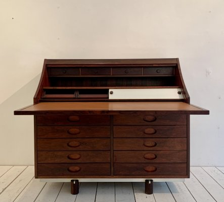 Rosewood bureau by Gianfranco Frattini for Bernini, 1960s