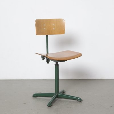 Oda Ahrend drafting chair stool in green, 1950s