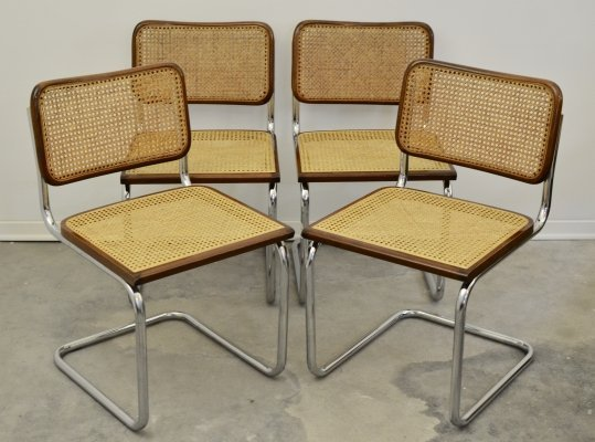Set of 4 dining chairs, 1970s