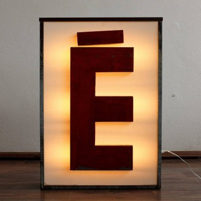 Luminous Metal Letter 'É', 1980s