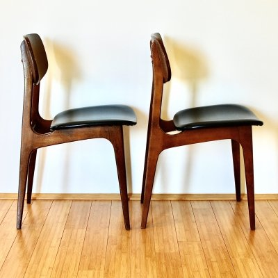 Set of 4 teak dining chairs, 1960s