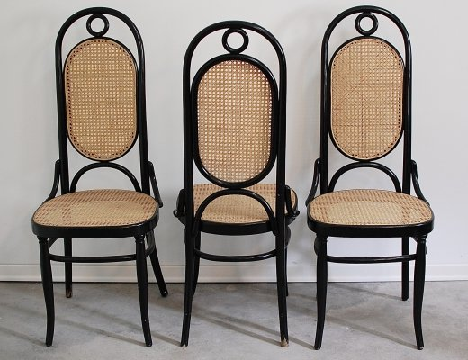 3 Bentwood 'model 17' Thonet dining chairs, 1960s