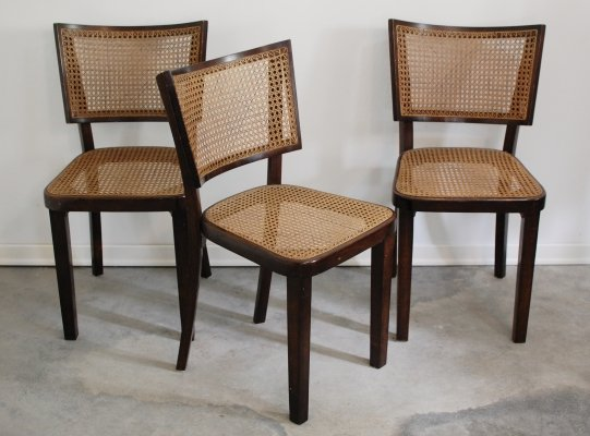 Set of 6 Art Deco dining chairs, 1920s