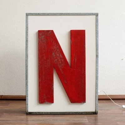 Luminous Metal Letter 'N'