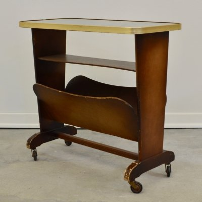Side Table with Magazine Holder, 1960s