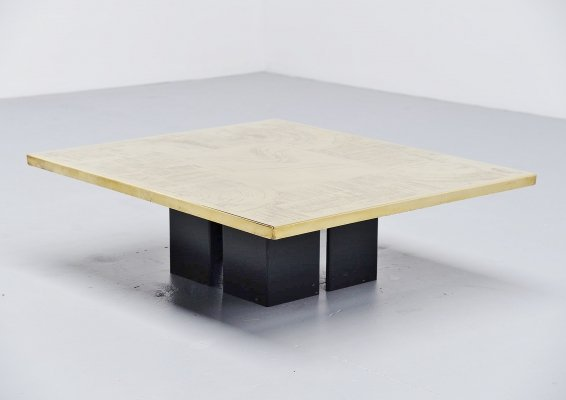 Christian Heckscher etched coffee table, Belgium 1972