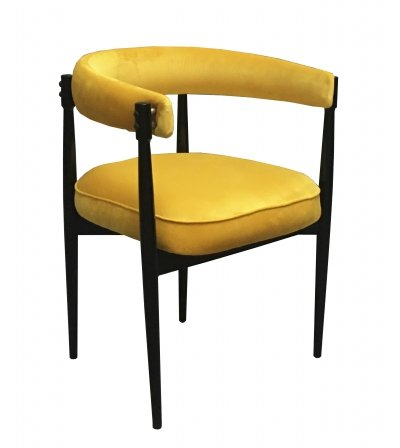 1960's Yellow Armchair by Fratelli Reguitti