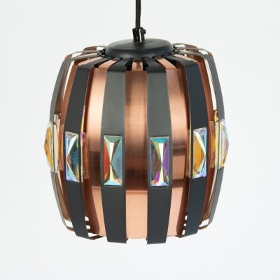 Vintage hanging lamp by Werner Schou for Coronell, 1970's