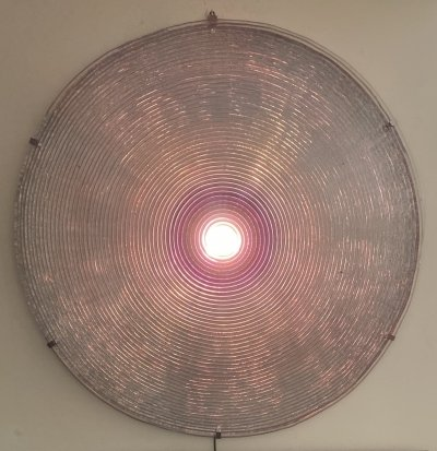 Original Early Italian Jacopo Foggini Circular Ribbed Wall Sculpture Light, 1990s