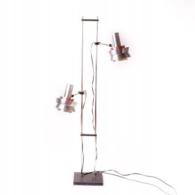 Vintage double-headed Trava floor lamp by Carl Thore for Granhaga, 1960's