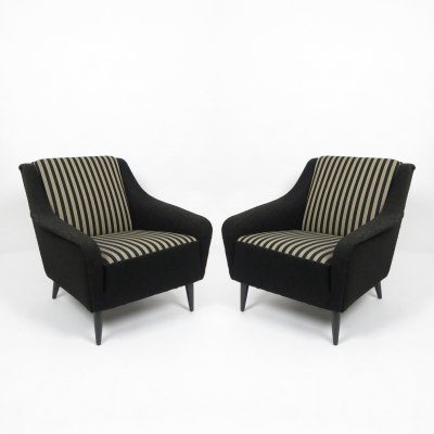 Set of 2 mid-century lounge chairs, 1960s