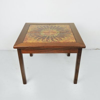 Danish Tiled Top Coffee Table by Moblerfabrikken Toften, 1970s