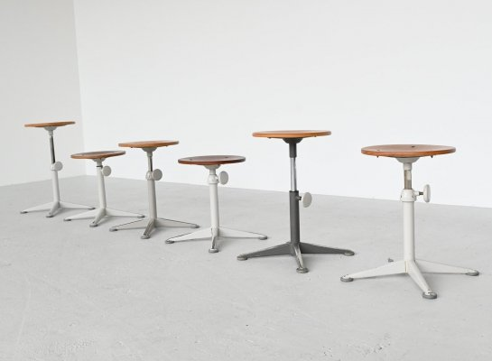 Friso Kramer stools by Ahrend de Cirkel, The Netherlands 1960