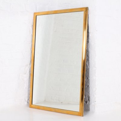 Mirror, framed by a light solid brass ogee, 1960's