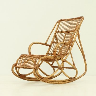 Bamboo Rocking Chair, 1960's