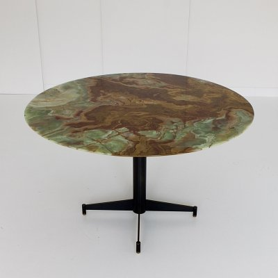 Onyx Marble top dining table, 1950s