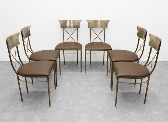 Set of 6 metal chairs by Belgochrom, 1980s