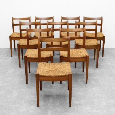 Set of 10 chairs by Van Den Berghe Pauvers, 1980s