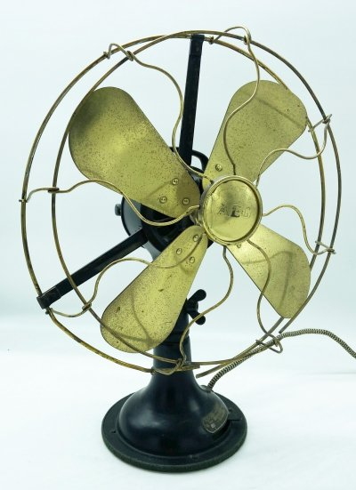 Metal & Cast Iron Table Fan by Peter Behrens for AEG, circa 1908