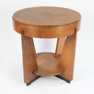 Art deco oak table, 1930/1940's