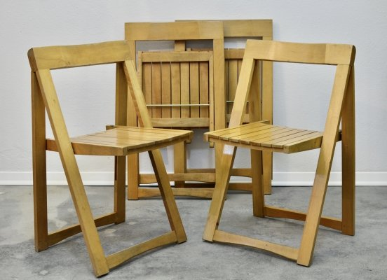 Set of 4 Foldable chairs by Aldo Jacober, 1970s