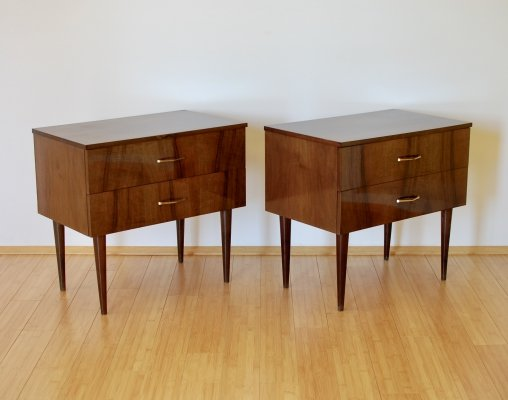 Pair of Bedside tables / Nightstands, 1960s