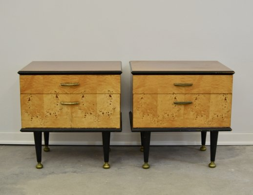 Pair of Nightstands / Bedside Tables, 1960s
