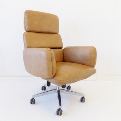 Otto Zapf for Topstar leather office armchair, 1970s