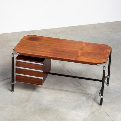 Ico Parisi rosewood desk for MIM, 1960