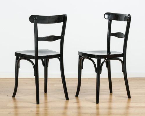 Set of 2 chairs from Thonet, 40's