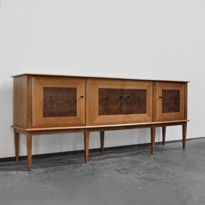 Sideboard with barr walnut details, Italy 1960s